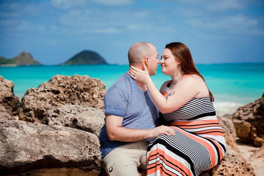 lanikai beach kailua oahu engagement proposal