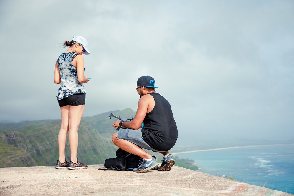 makapuu ridge trail oahu hawaii couples proposal