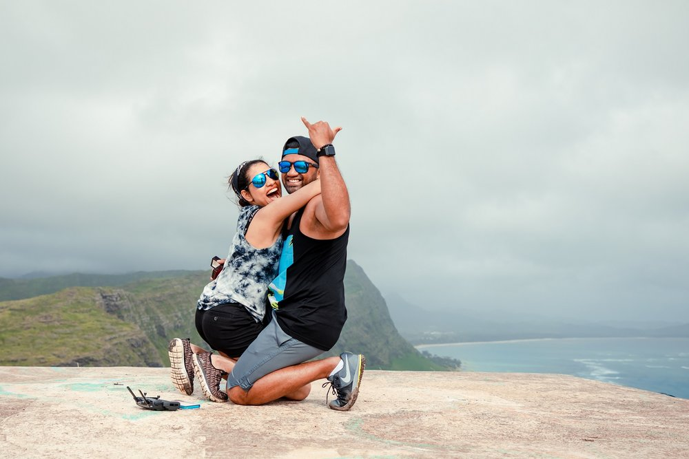 couples surprise proposal success hawaii