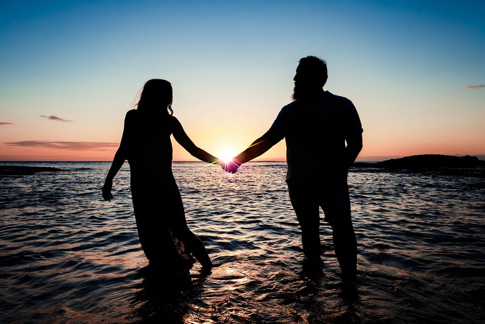 Couples Engagement at sunset