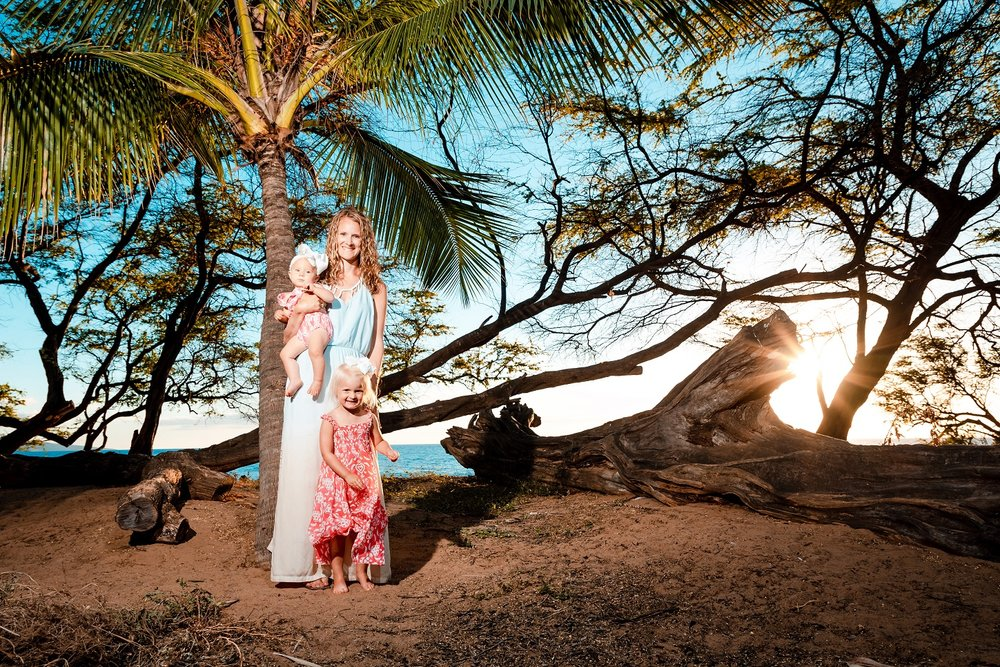 family sunset portrait lahaina maui hawaii