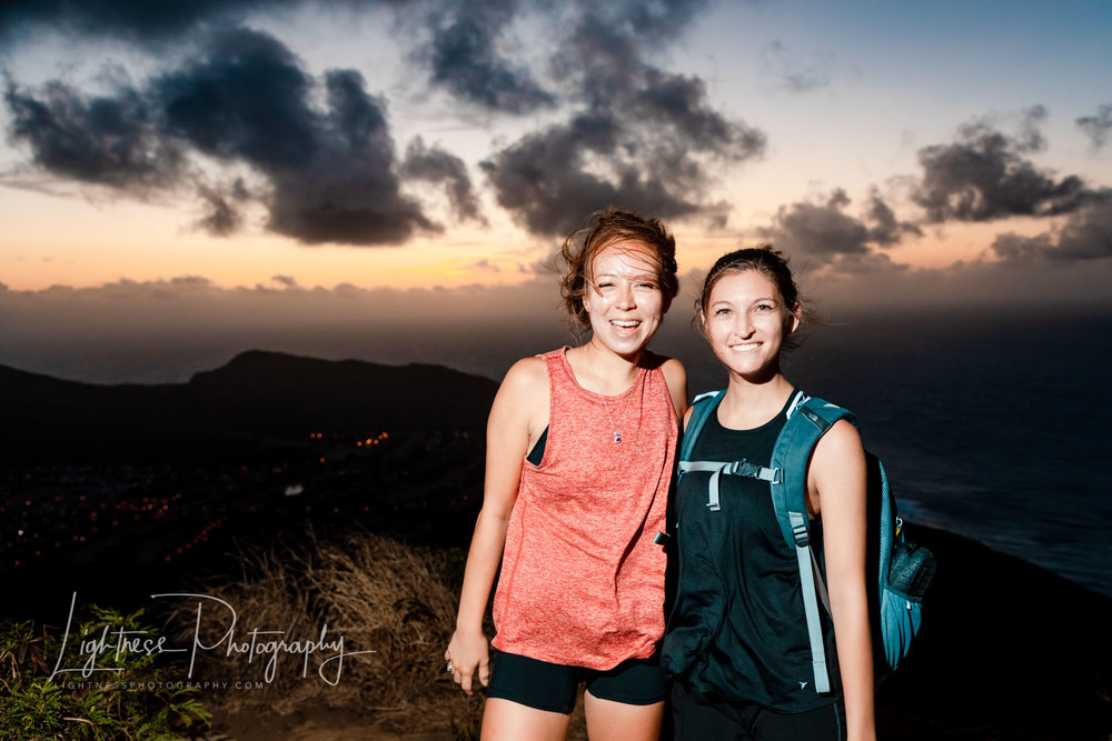 koko crater trail sunrise portrait