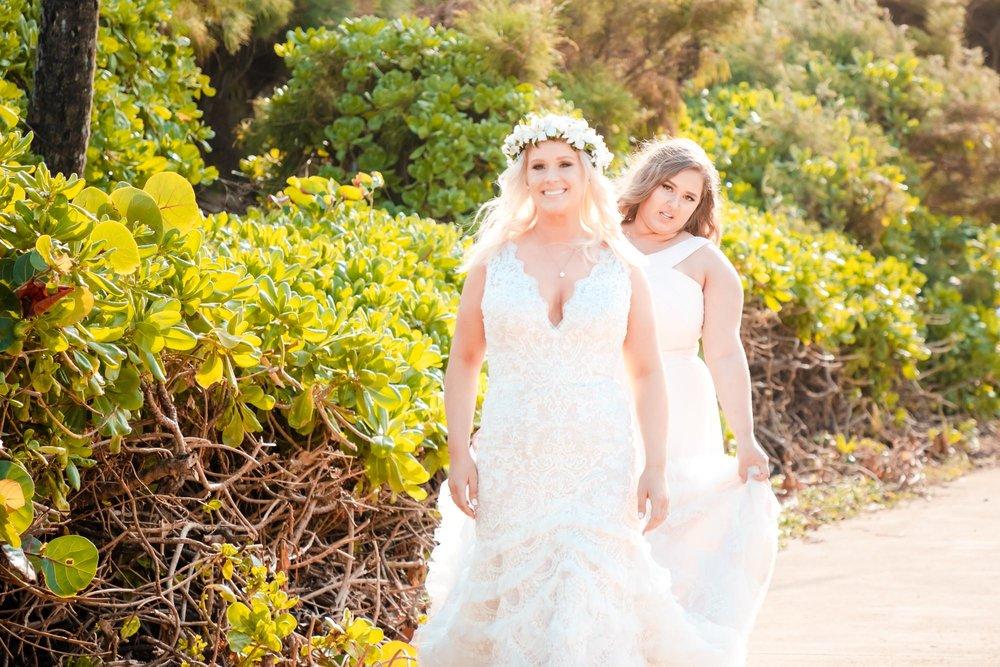bride and daughter kauai elopement wedding