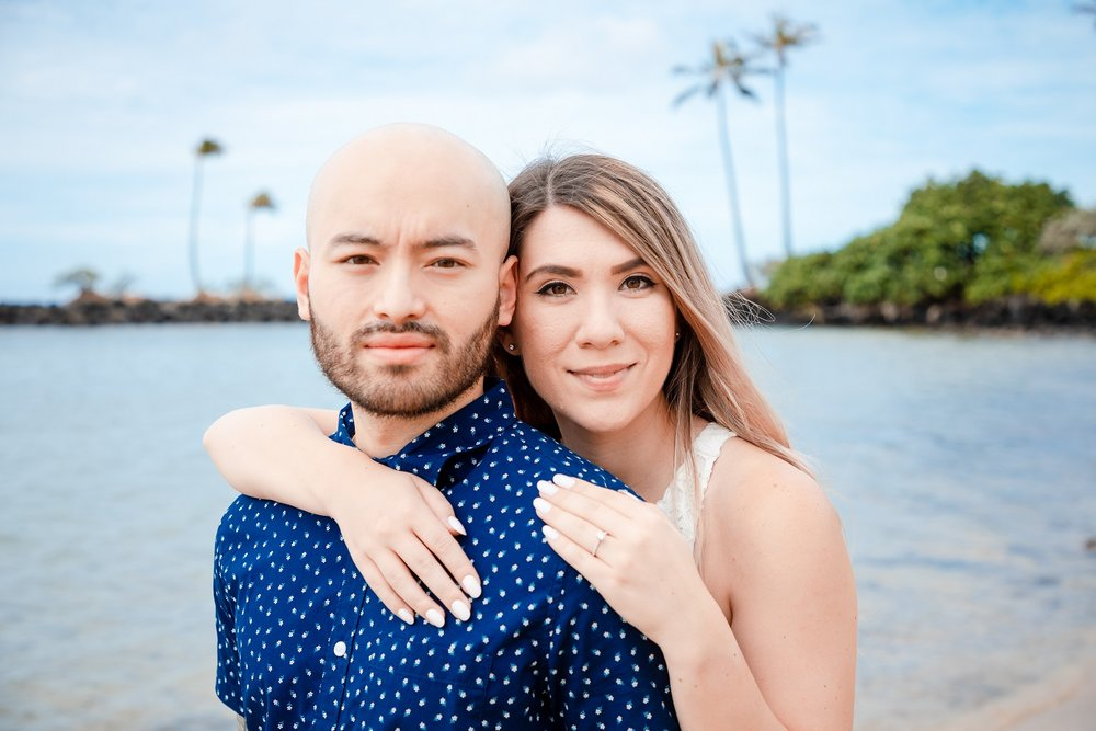 couples engagement proposal photography waikiki oahu hawaii