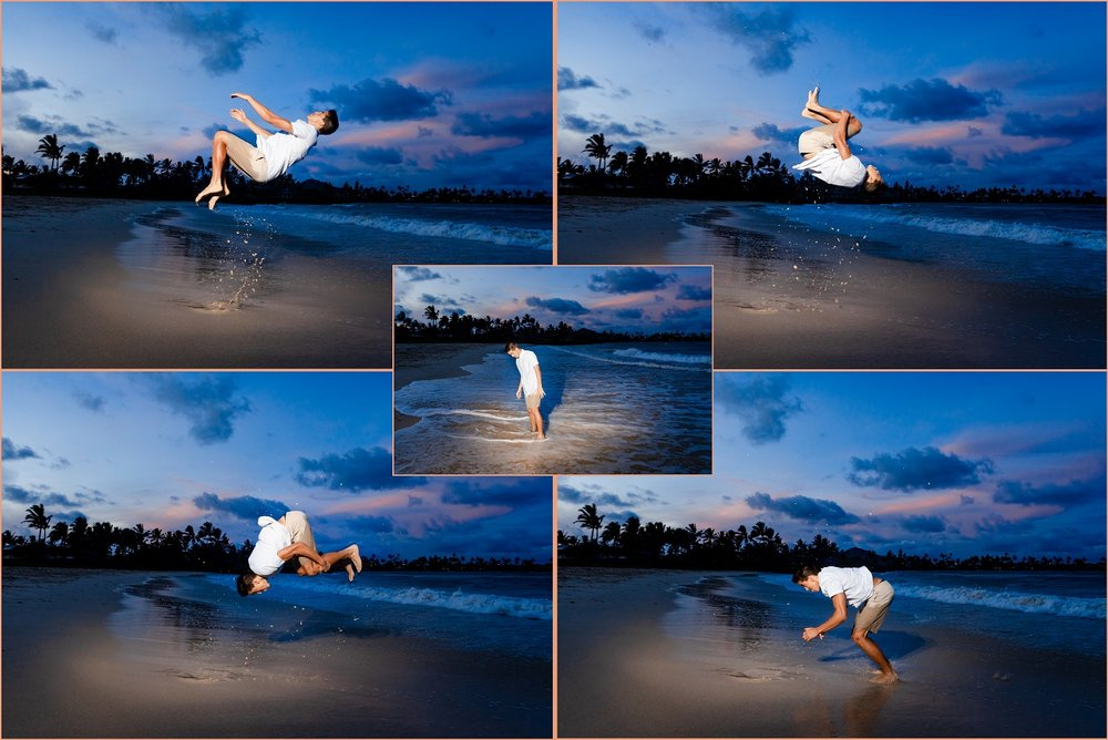 The beach flip!