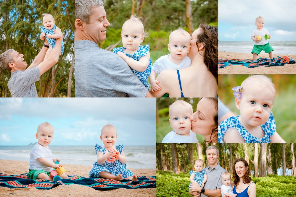 maui family portrait photographer collage print
