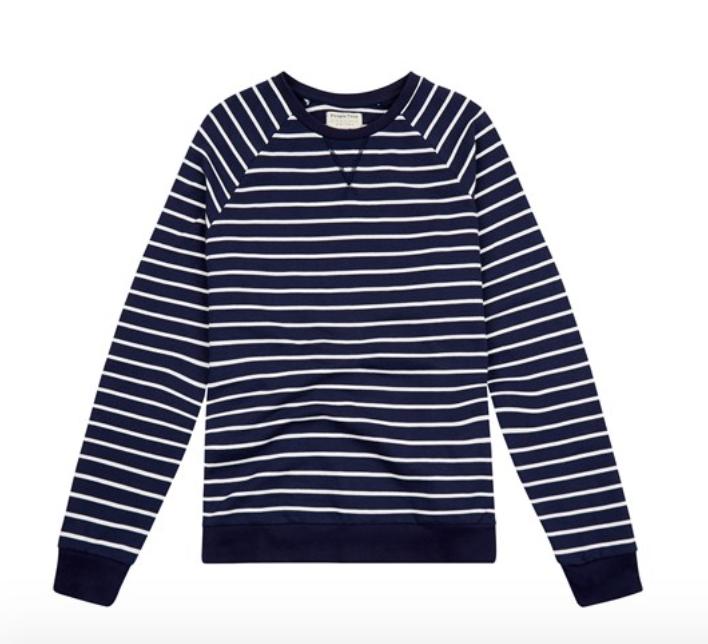 Men's Jack Stripe Organic Cotton Sweatshirt Navy $49