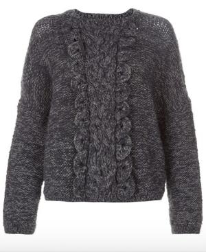 Rosa Ruffle Jumper 100% Wool- $48