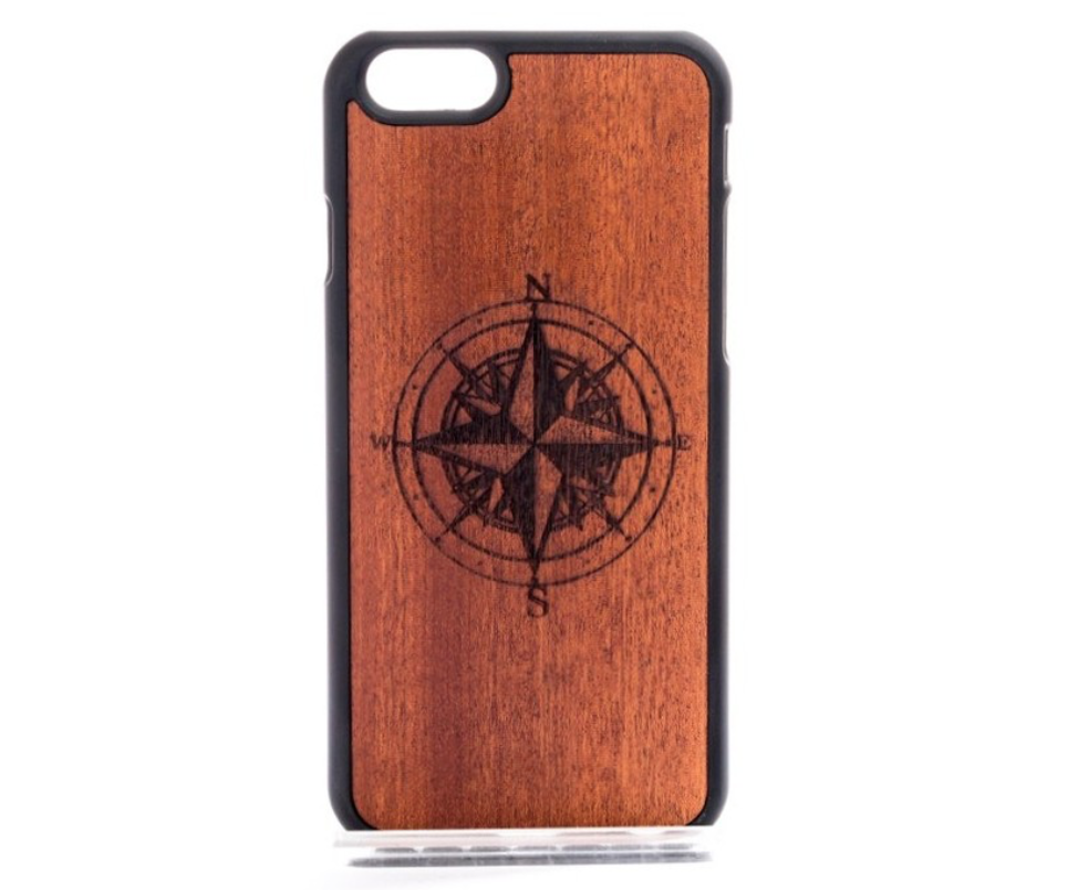 wood compass iPhone case