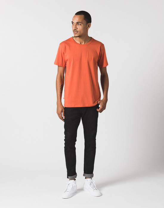men's orange crew neck tee