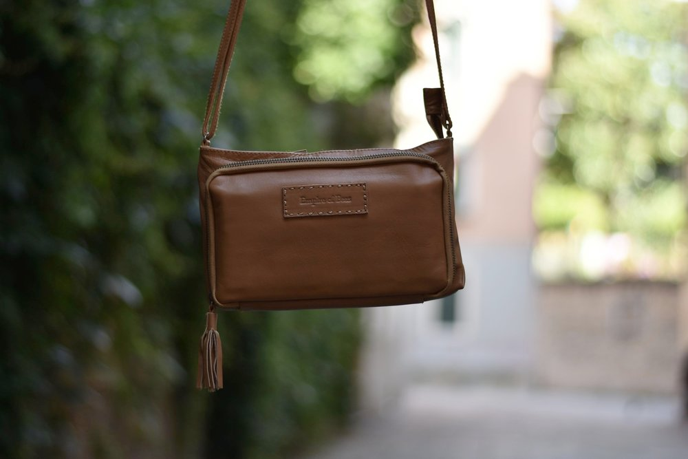 ethically made leather purse for travel
