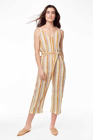 Cabiria Jumpsuit in 70s Stripe-$268.00