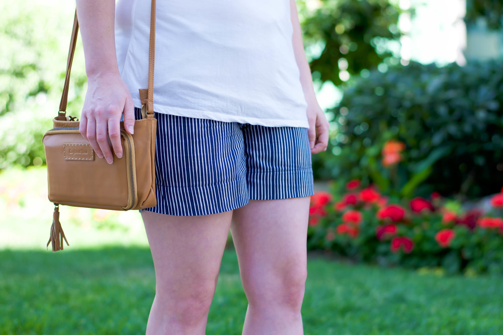 Montague Shorts Navy Stripes by Mata Traders