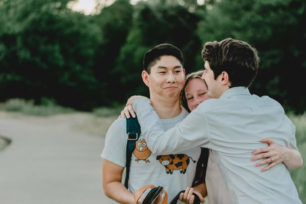taking engagement pictures with anxiety