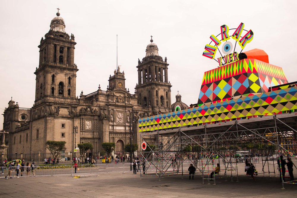 Mexican Design Open: Instalación Mirar by Morag Myerscough and Luke Morgan