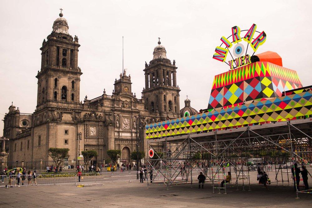 Mexican Design Open: Instalación Mirar by Morag Myerscough and Luke Morgan