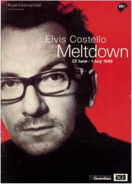 Artwork for Elvis Costello's Meltdown Festival  © Southbank Centre archive, Southbank Centre