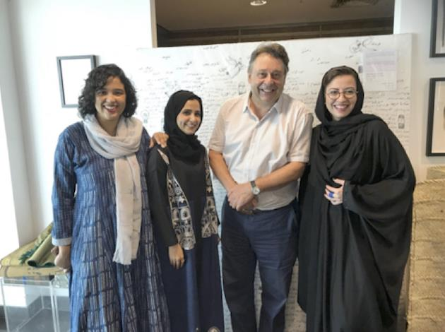 Graham with 3 of the 6 Saudi Curators, Dalia, Raneen and Reem