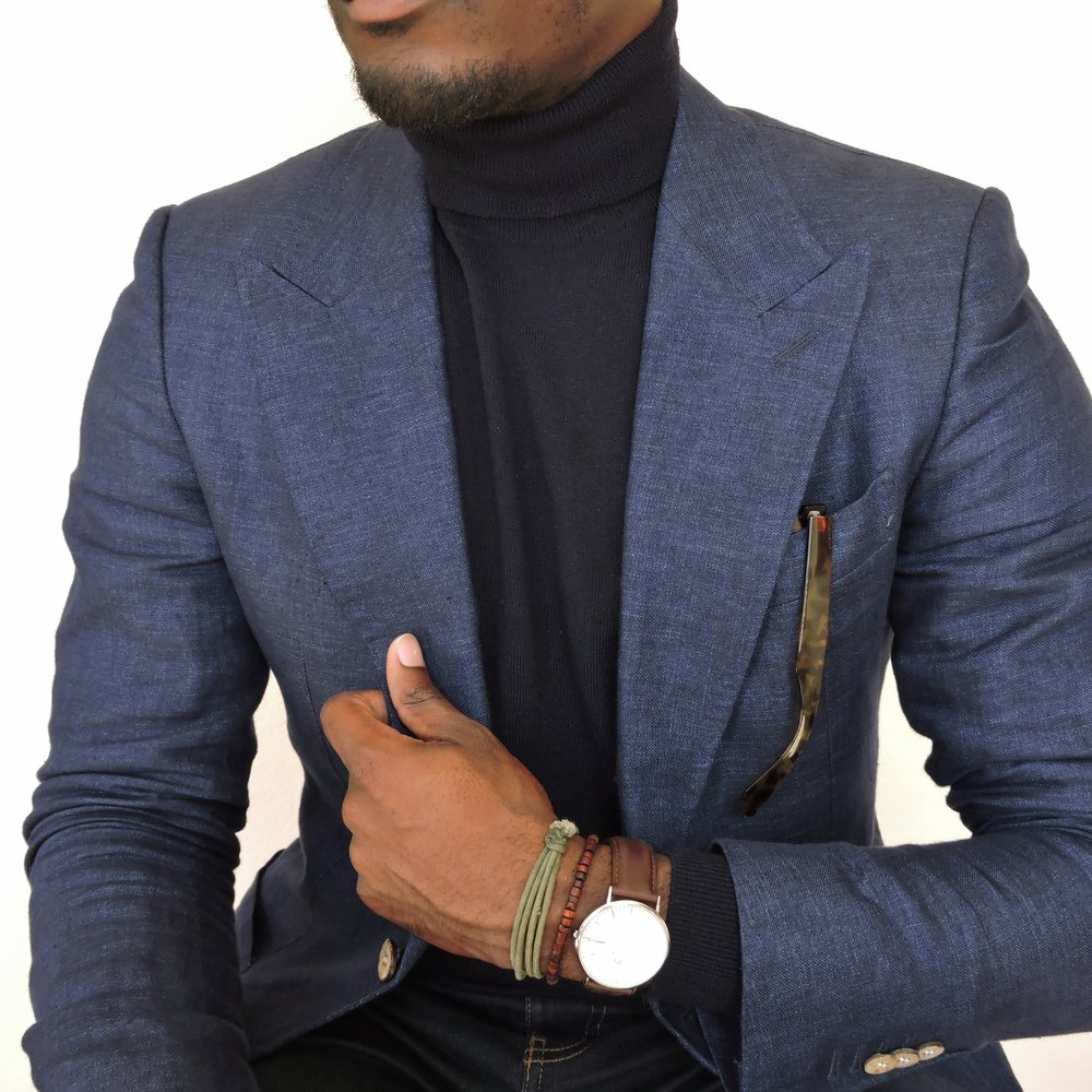 Gregs Style Guide Greg McGregorson turtleneck blazer suit navy menswear mens fashion
