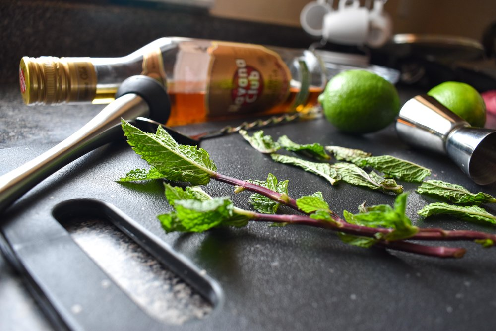 mojito with dark rum mint food blog gregsstyleguide