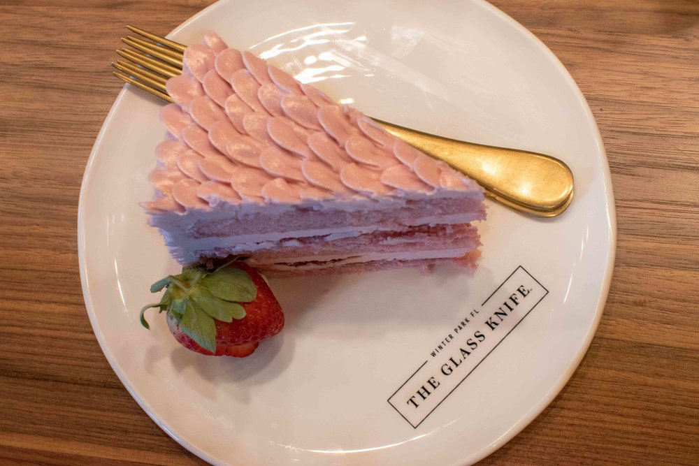 the glass knife winter park orlando bakery strawberry cake