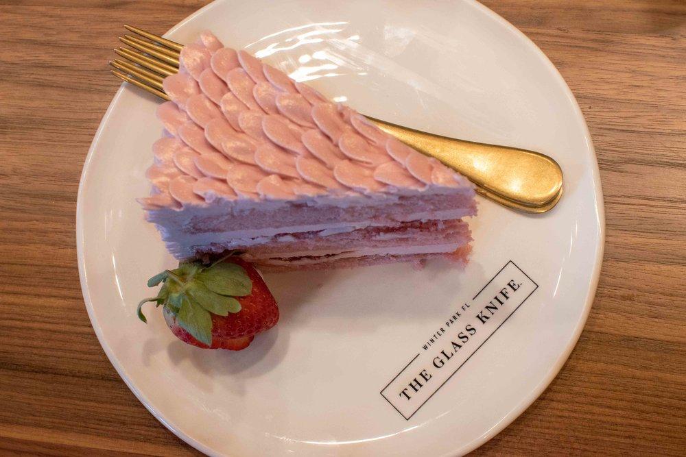 the glass knife winter park orlando bakery strawberry cake