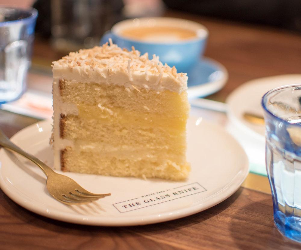 the glass knife winter park orlando bakery coconut cream cake