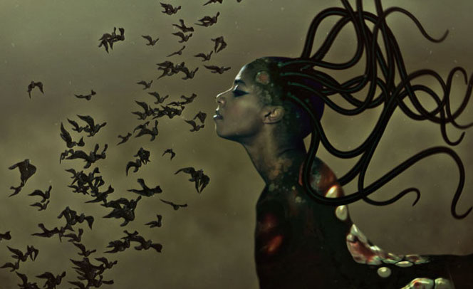 Wangechi Mutu,  The End of eating everything  (Still), 2013.