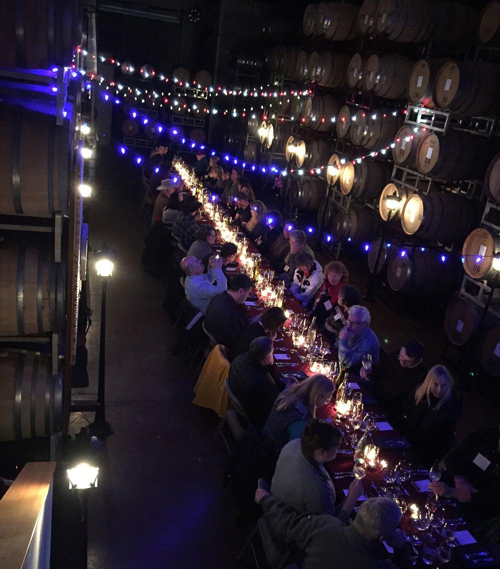 Nouveau wine club dinner