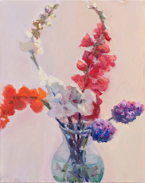 Snapdragons and Lupines
