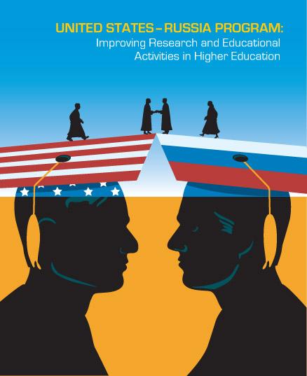US Russia Program Branding Poster And Design