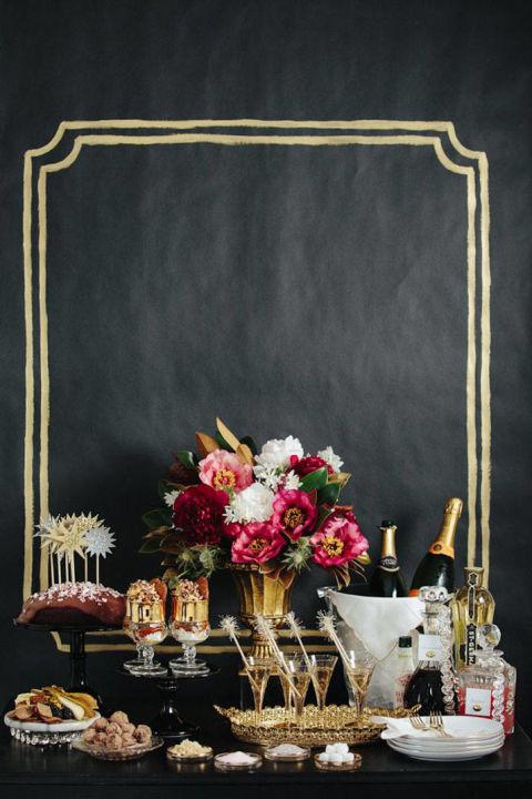 Harper's Bazaar . Holiday Food Display.