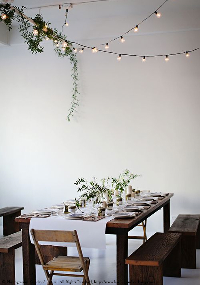 Sunday Suppers . Big Rustic Dining Table.