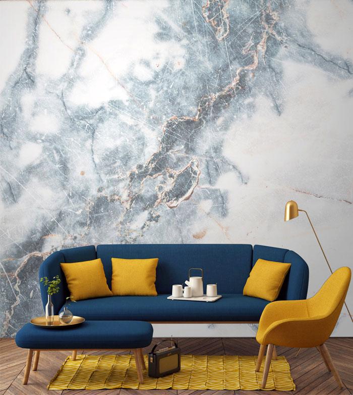 InteriorZine . Living Room. Wallpaper.