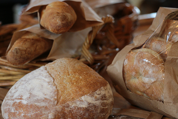 Harvest Moon Market (just down the street) makes our fresh-baked breads & desserts.