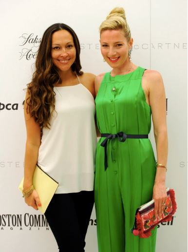 Stella McCartney  Fashion Show at Saks Fifth Avenue, Boston. Jessica Diaz, left, and Alisa Kapinos are seen during a Massachusetts Society for the Prevention of Cruelty to Animals (MSPCA) cocktails with Stella McCartney at Saks Fifth Avenue in Boston on Tuesday. Staff photo by Christopher Evans