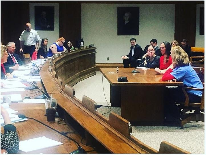 Testifying in front of the Joint Committee on Health and Public Service and the Massachusetts State House
