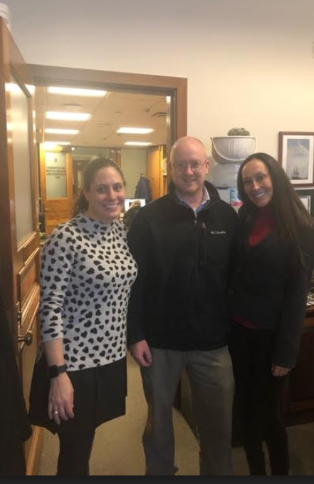 Allyson Perron, Government Relations Director for the American Heart Association and Sean Getchell, aid to Representative Ryan