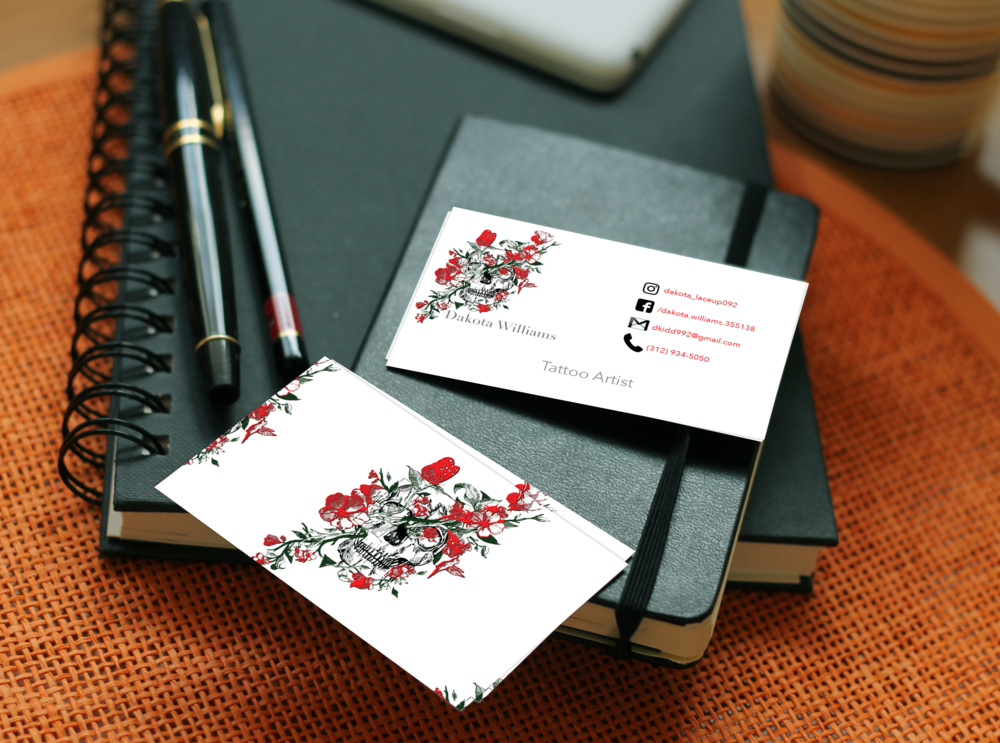 Dakota Williams Business Card Mockup
