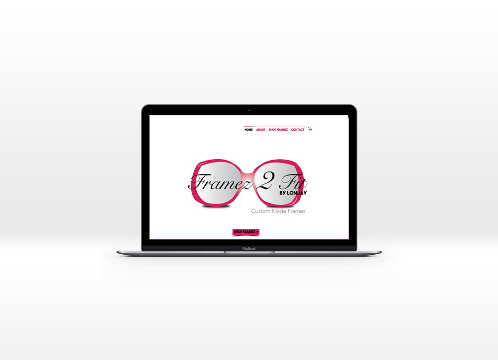 LONJAY Framez 2 Fit landing web homepage. Graphics and layout designed by D. Tamesha Designs