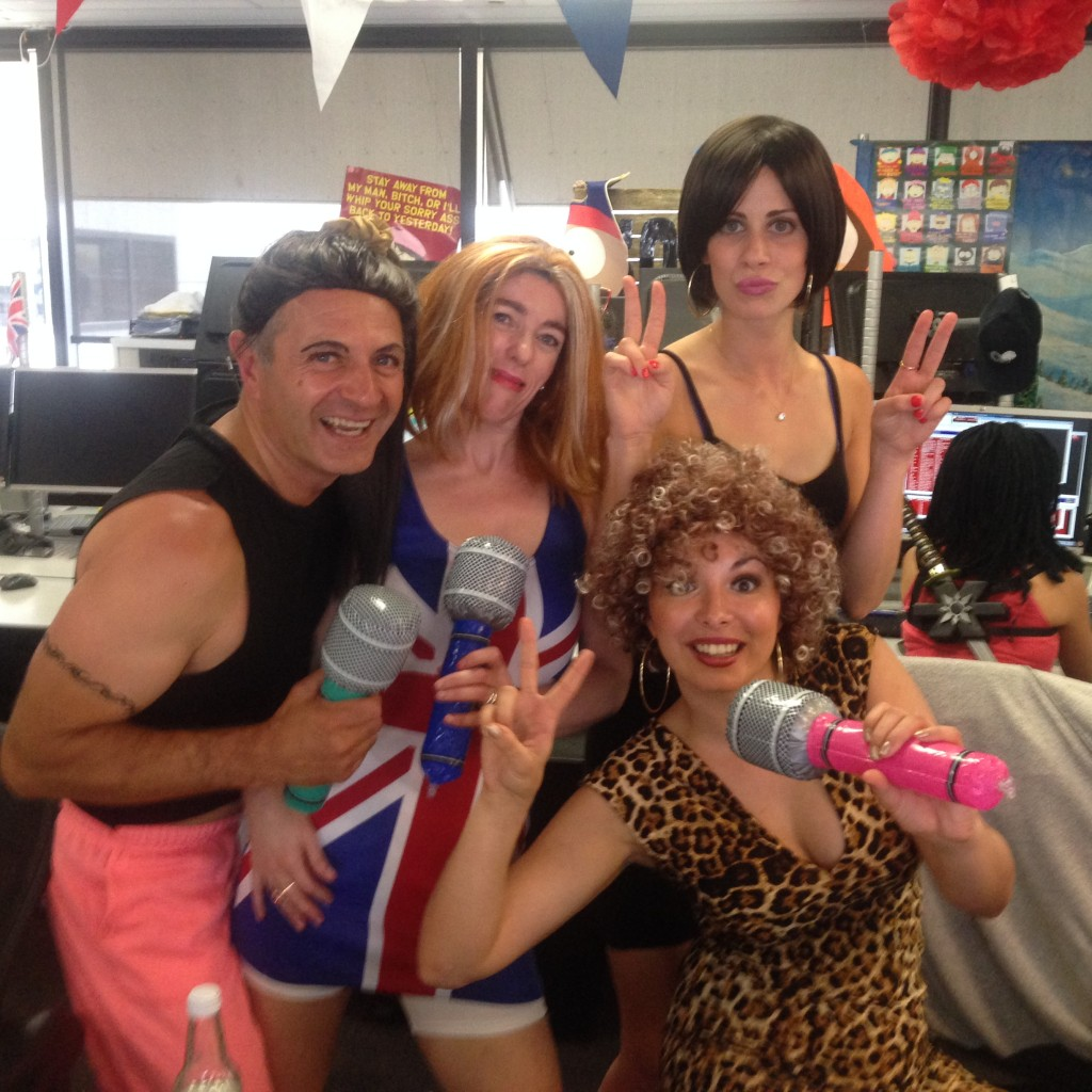 The spice girls are in town and playing a big role in ICAP charity day