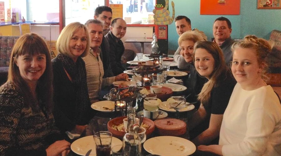 My final lunch with the Benojo team.