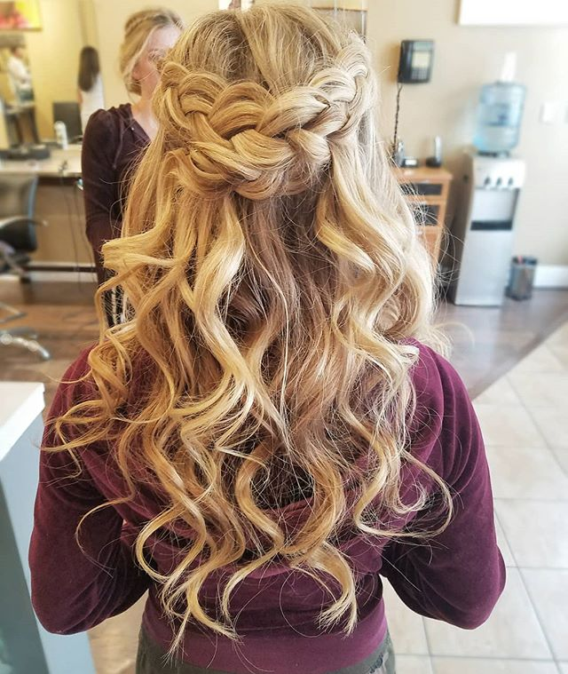 Prom Season is a go! And braid crowns are the most requested so far! 👑  #updos #braidcrown #braids #promhair #prom #hairstyles.