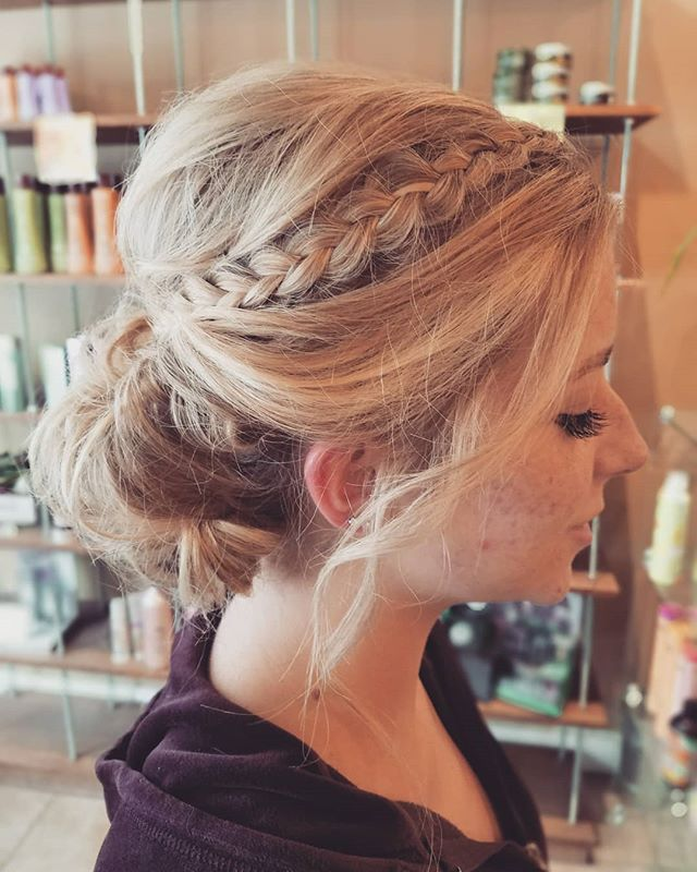 Prom Updo by @chaniibabe using techniques by @heatherchapmanhair ❤❤❤ Continued education is important. And in our digital age it is easier than ever. Chantelle is a subscriber to Heather Chapman's online tutorial site. Putting her education to good use. #updos #promhair #hairstyles #longhairupdo #updo #braids #heatherchapmanhair