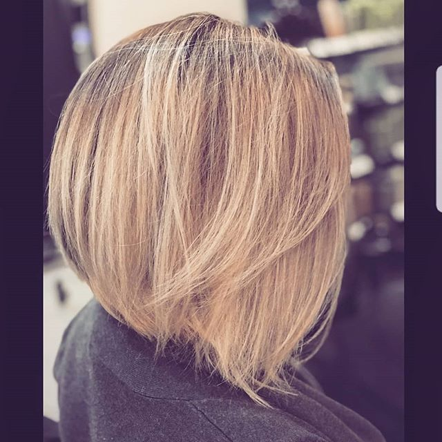 Structure and texture, achieved by @sweatofkings #boisehair #boisehairstylist #behindthechair #btcpics #bobhaircut
