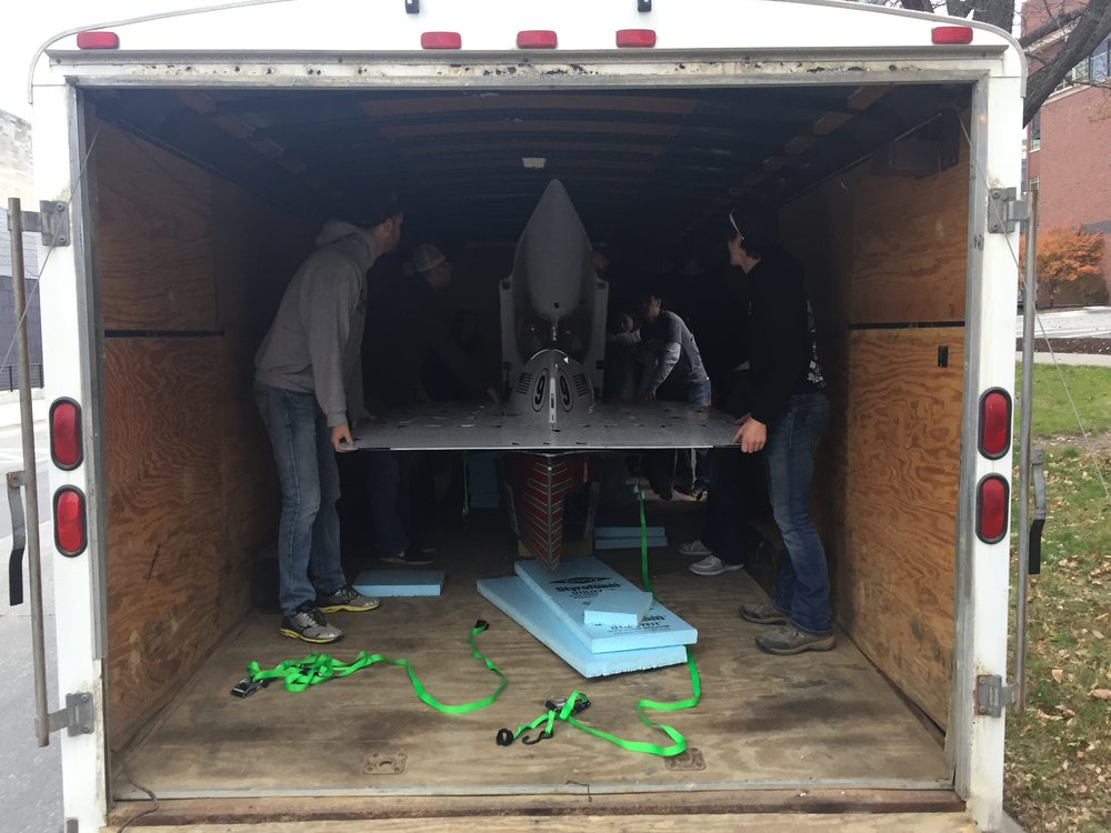 Iowa Baja helping ASME unload their new chassis
