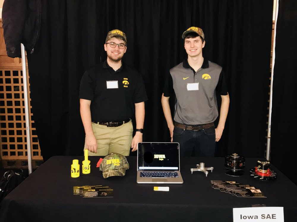 Eric Jones (left) and Alex Dalziel at the MIE Senior Design Night