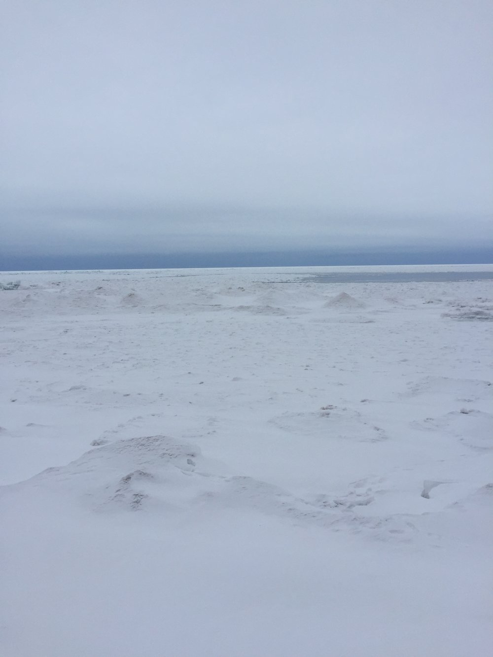 Lake Superior frozen for the winter