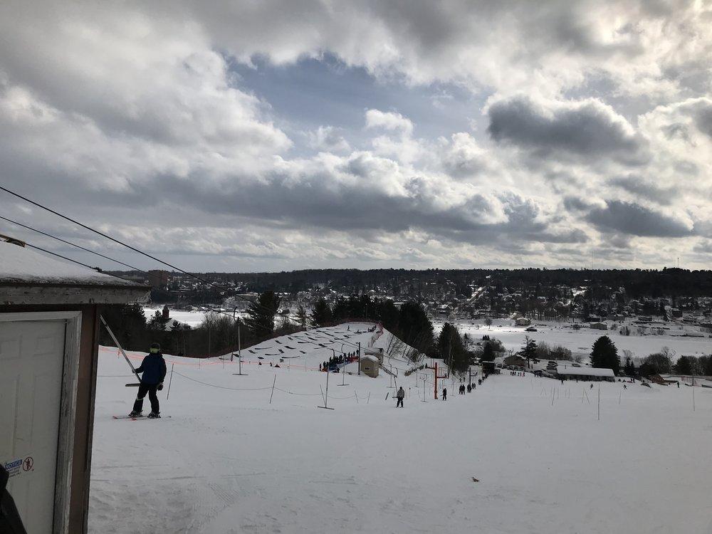 Mont Ripley Ski Resort overlooking Houghton, Michigan