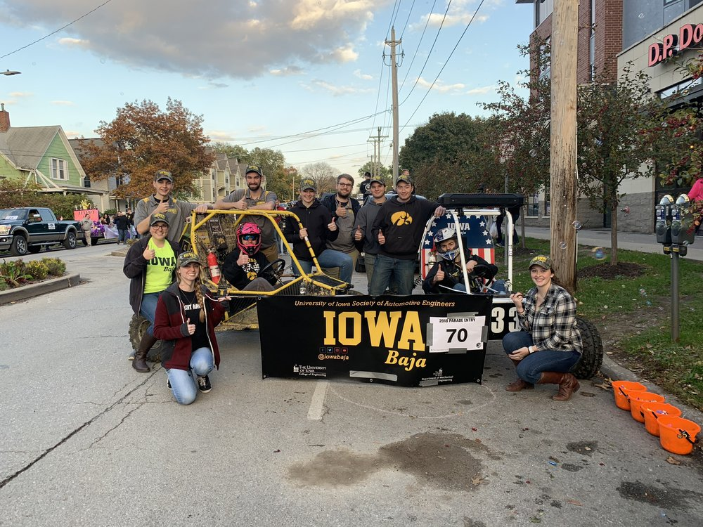 The Iowa Baja Parade Team